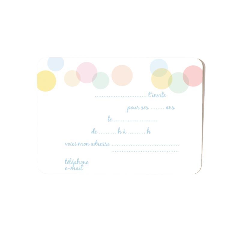 carte d'invitation dos