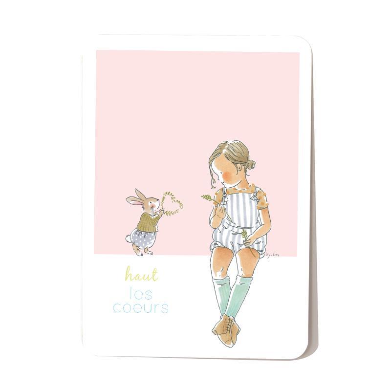 Carte postale Haut les coeurs